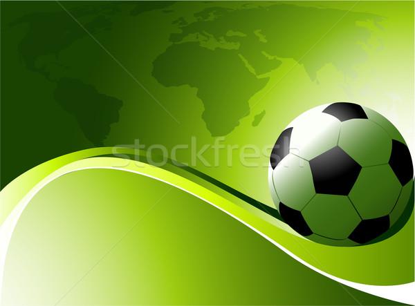 Abstract Football Background Vector Illustration C Jagoda
