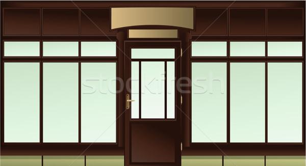 Compras janela vazio fundo retro mercado Foto stock © jagoda