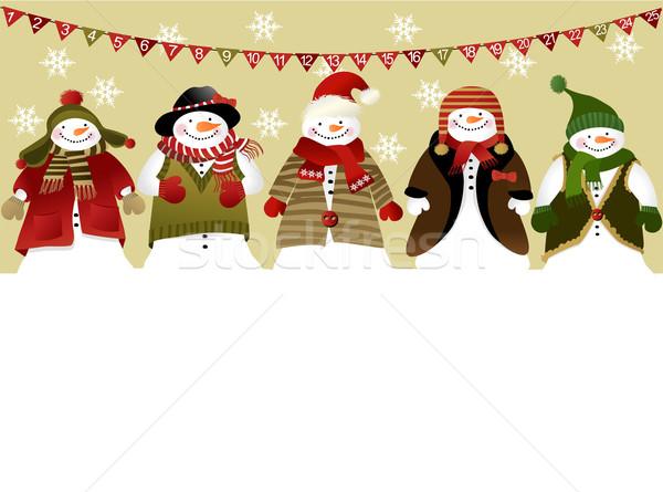 Aufkommen Kalender Weihnachten Winter Spaß Urlaub Stock foto © jagoda