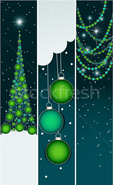 Stockfoto: Christmas · banners · decoraties · ontwerp · leuk · star