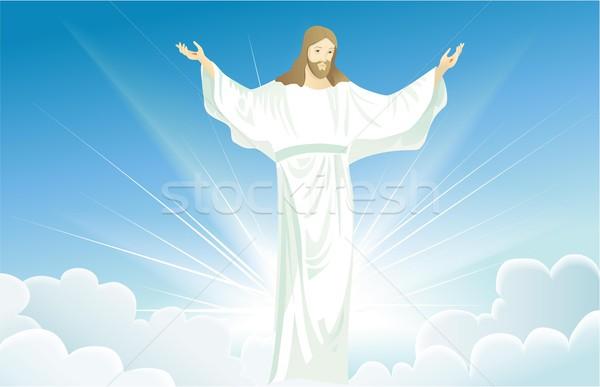 Jesús Cristo gloria Pascua fondo hombres Foto stock © jagoda