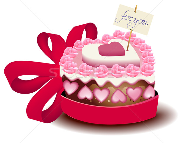 Birthday Cake Images Vektor ~ Love cake vector illustration jagoda stockfresh