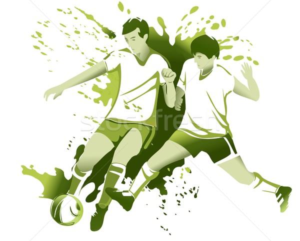 Abstrato futebol jogadores esportes futebol fundo Foto stock © jagoda
