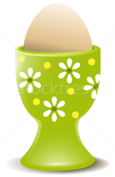 卵 エッグカップ イースター 春 背景 ストックフォト © jagoda