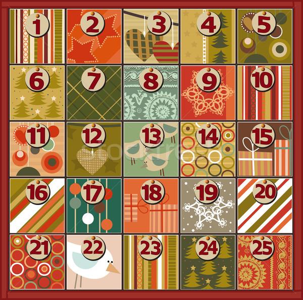 Advento calendário natal árvore coração fundo Foto stock © jagoda