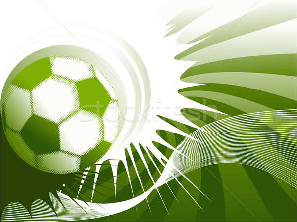 Voetbal abstract ontwerp sport frame bal Stockfoto © jagoda