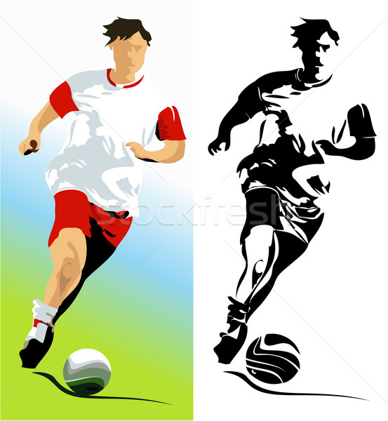 Football player Stock photo © jagoda