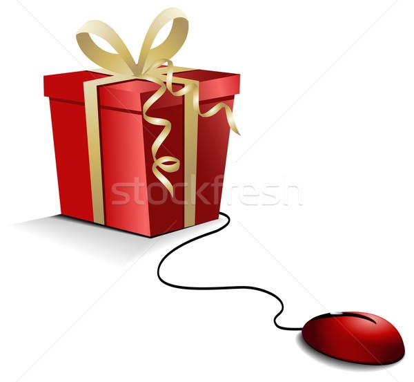 Christmas e-shopping  Stock photo © jagoda