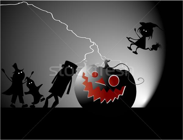 Halloween buli ünnep vektor éjszaka jókedv Stock fotó © jagoda