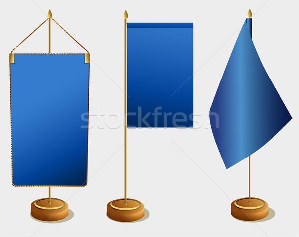 Tabela bandeiras conjunto três elegância escritório Foto stock © jagoda