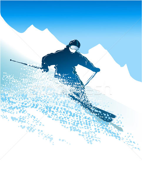 Skier Stock photo © jagoda