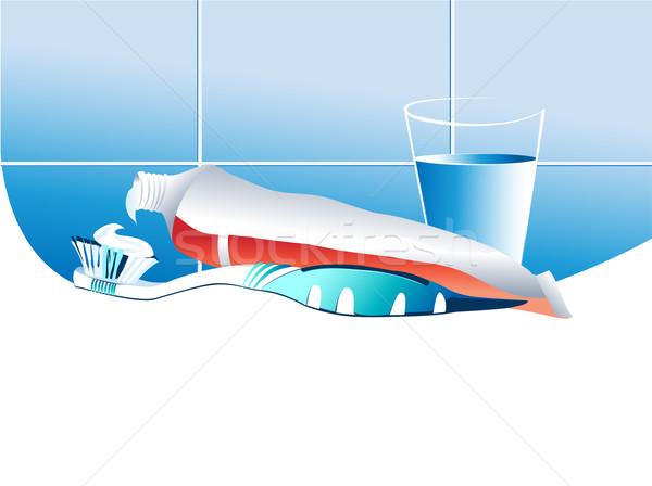Spazzolino dentifricio dental medici sfondo onda Foto d'archivio © jagoda