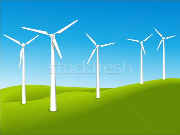 Wind turbines  Stock photo © jagoda