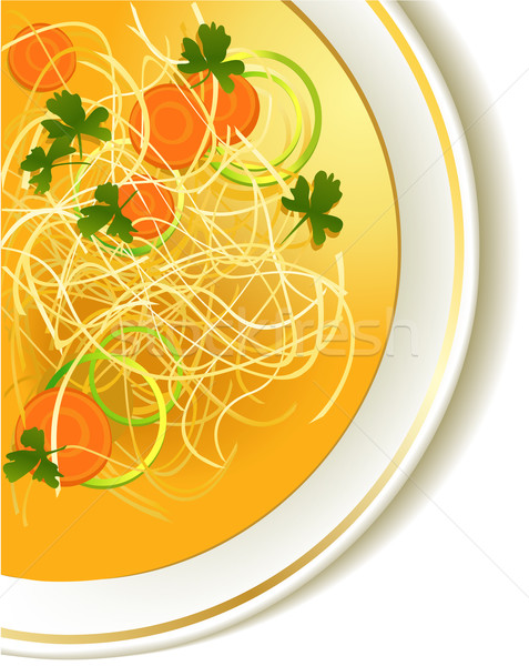 鶏 ヌードル スープ 食品 デザイン ストックフォト © jagoda