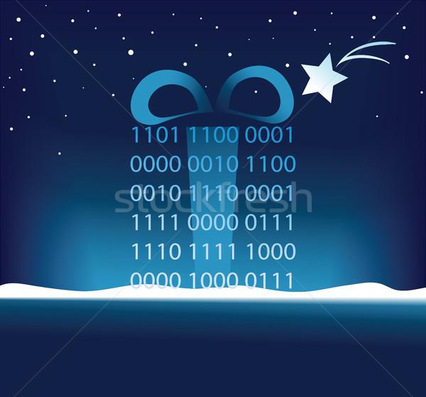 Christmas code geschenk vakantie abstract computer Stockfoto © jagoda