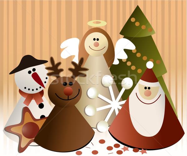 Christmas paper decorations Stock photo © jagoda