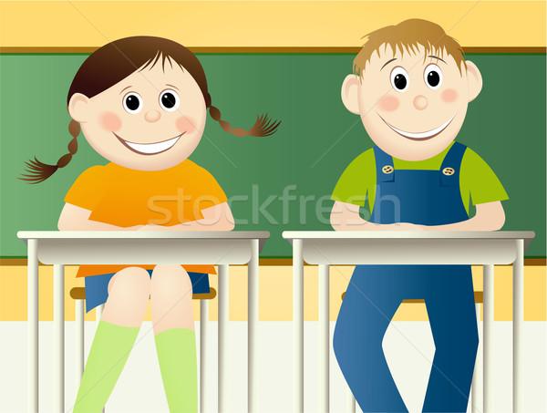 De volta à escola educação jovem estudantes sorrir escolas Foto stock © jagoda