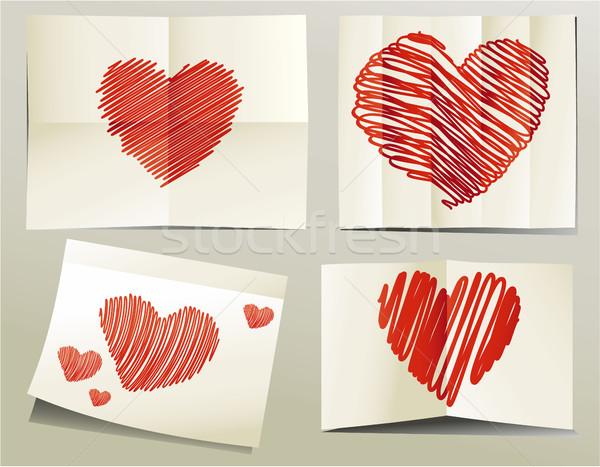 Amor corações férias coração símbolo Foto stock © jagoda