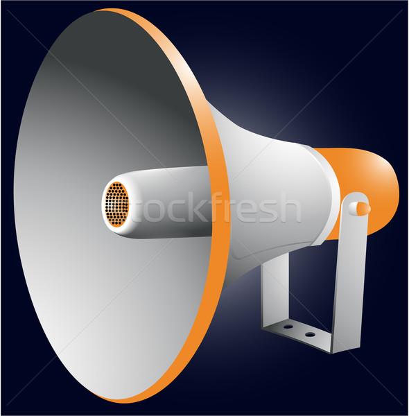 メガホン 単純な 話す 通信 サウンド 管 ストックフォト © jagoda