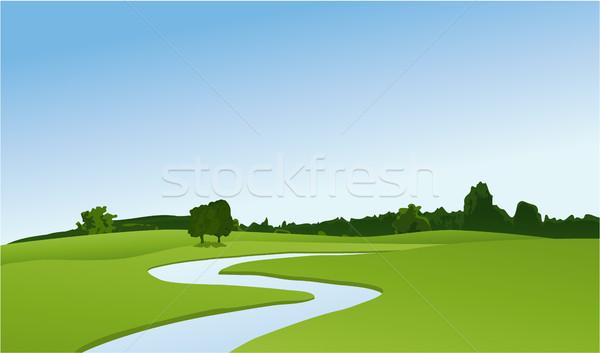 реке весны природы фон лет Сток-фото © jagoda