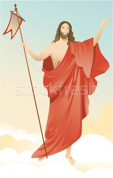 Gesù Cristo gloria Pasqua sfondo uomini Foto d'archivio © jagoda
