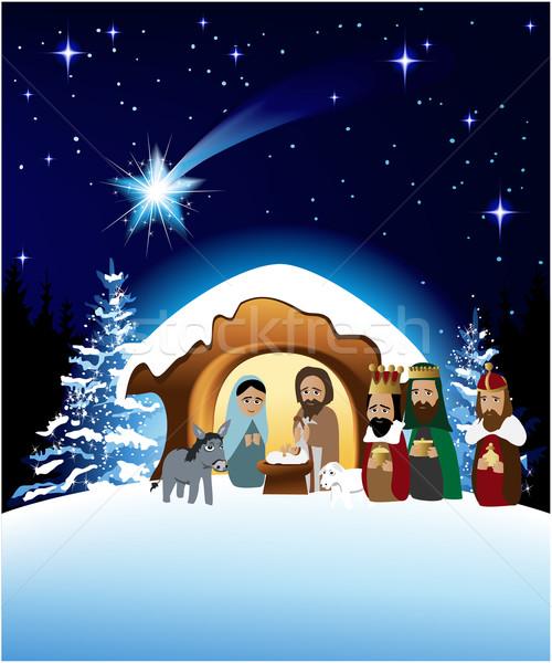 Christmas nativity scene Stock photo © jagoda