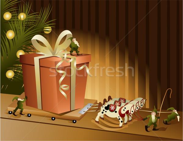 Christmas gift Stock photo © jagoda