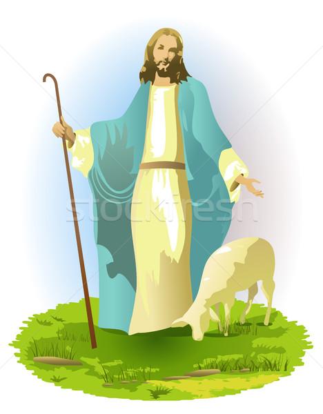 Jézus Krisztus szeretet férfiak templom Biblia Stock fotó © jagoda