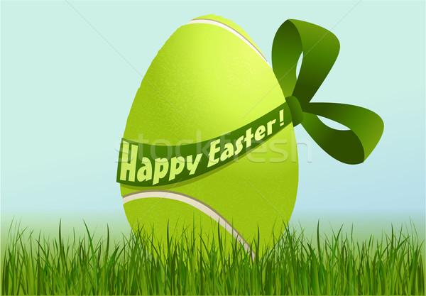 Tennis easter egg vakantie sport Pasen ontwerp Stockfoto © jagoda
