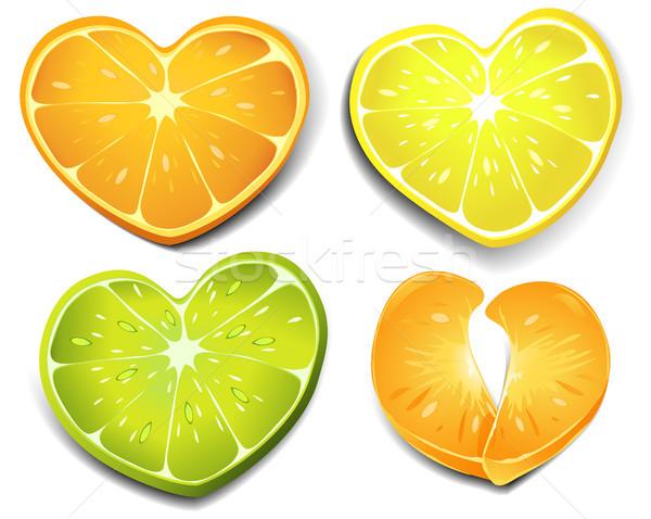 Citrus heart shape Stock photo © jagoda