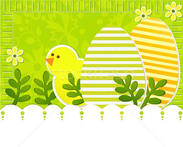 イースター 鶏 花 春 デザイン 背景 ストックフォト © jagoda
