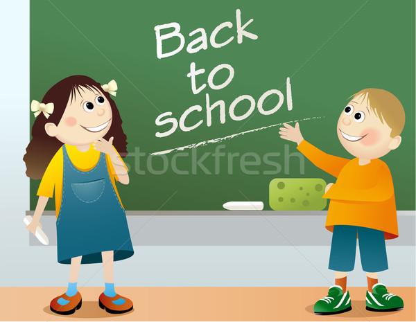 Foto stock: De · volta · à · escola · educação · jovem · estudantes · sorrir · estudante