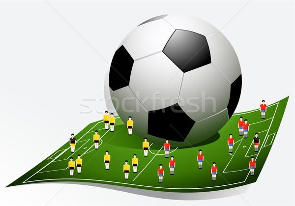 Futbol karikatür oyuncular spor dizayn arka plan Stok fotoğraf © jagoda