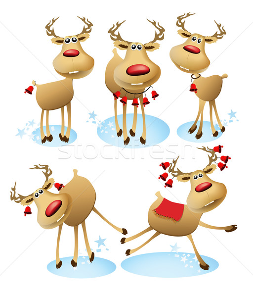 Cartoon reindeer Stock photo © jagoda