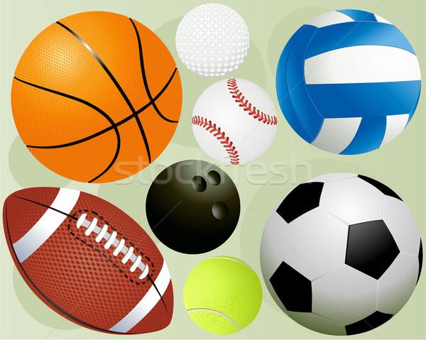 Sport ingesteld populair basketbal gezondheid Stockfoto © jagoda