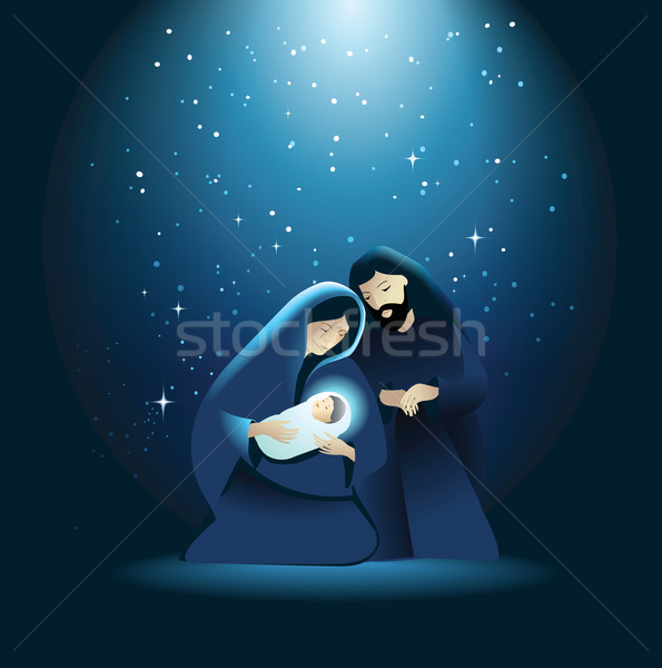 Nativity scene with Holy Family Stock photo © jagoda