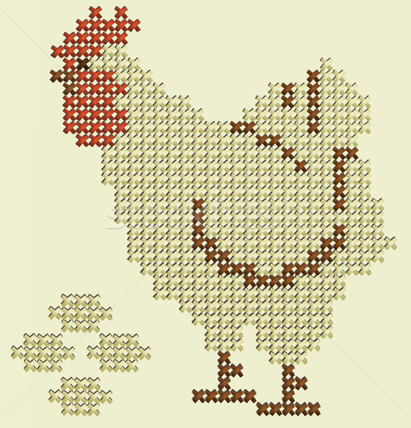 Easter embroidery Stock photo © jagoda
