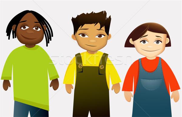Crianças grupo sorridente menina criança amigos Foto stock © jagoda