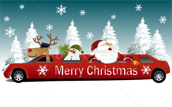 Natal papai noel férias limusine esportes paisagem Foto stock © jagoda