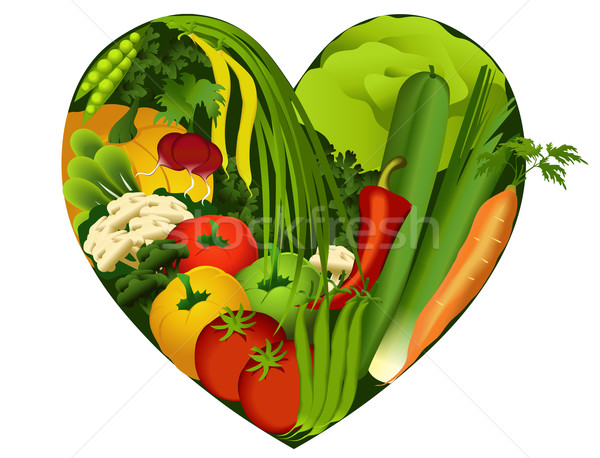 Vegetables in heart shape Stock photo © jagoda