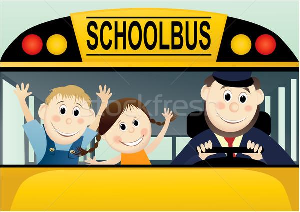 De volta à escola educação jovem estudantes sorrir criança Foto stock © jagoda