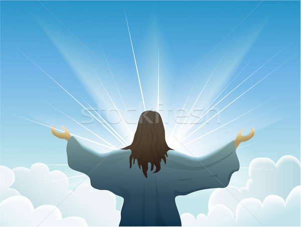 Jesus cristo amor homens igreja bíblia Foto stock © jagoda