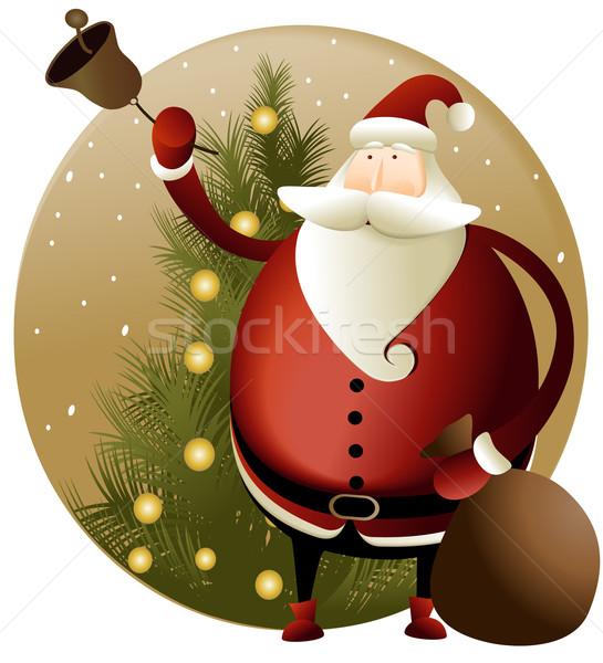 Natal papai noel ilustração neve decoração floco de neve Foto stock © jagoda