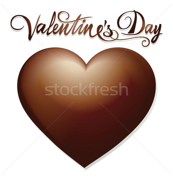 шоколадом сердце Sweet символ любви Сток-фото © jagoda