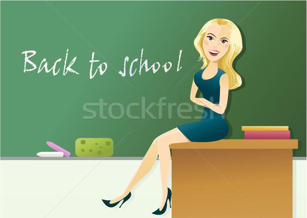 De volta à escola educação jovem estudantes sorrir estudante Foto stock © jagoda
