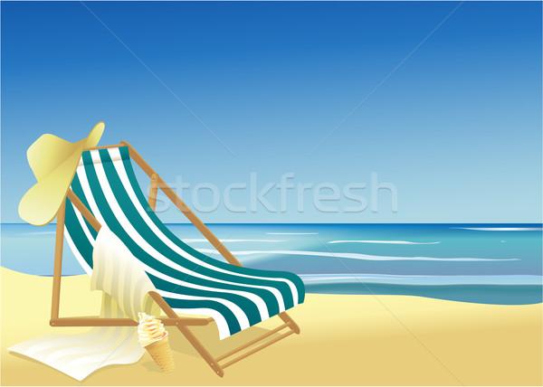 晴れた 夏休み ビーチ 海 空 幸せ ストックフォト © jagoda