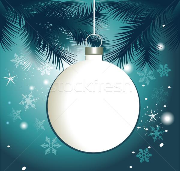 クリスマス フレーム ボール ツリー デザイン 雪 ストックフォト © jagoda
