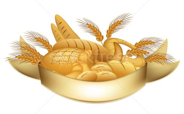 Productos diseno signo banda grano cereales Foto stock © jagoda