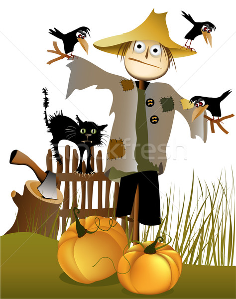 Halloween scarecrow Stock photo © jagoda