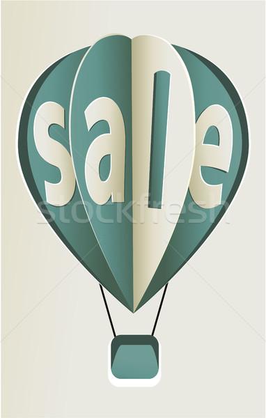 Vásár léggömbök léggömb felirat kéz terv Stock fotó © jagoda